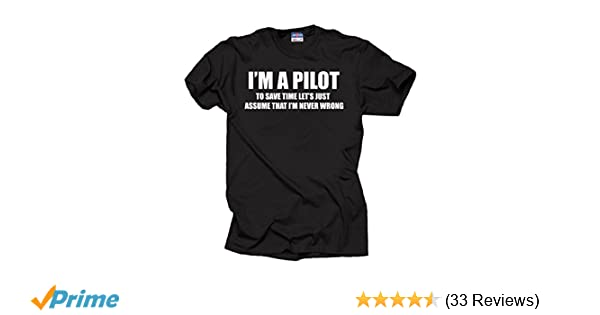 2eee0f799 Amazon.com: Pilot Flight School T-Shirt: Clothing