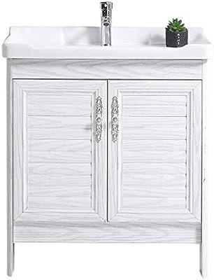 GXFC Lavabo de cerámica con gabinete de Aluminio, Mueble de ...