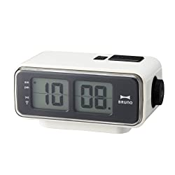 Retro Digital Flip Desk Alarm Clock White