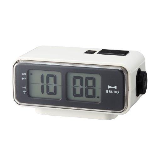 (Retro Digital Flip Desk Alarm Clock White)