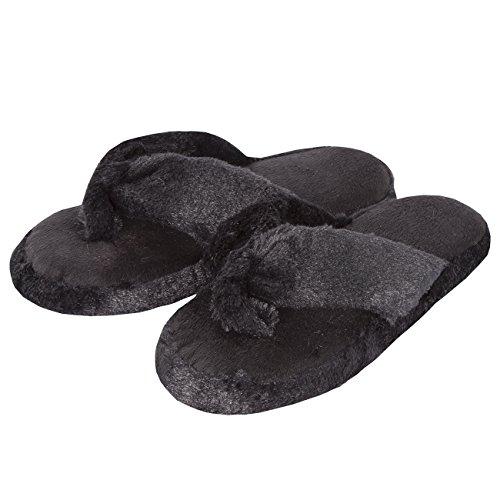 Memory Le Foam Black Ladies Sempre Sognando Dita Pantofole Per Morbide an0ggB
