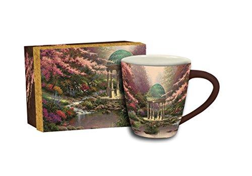 Lang Pools Of Serenity Cafe Mug by Thomas Kinkade, Multicolored (Thomas Garden Kinkade Serenity)