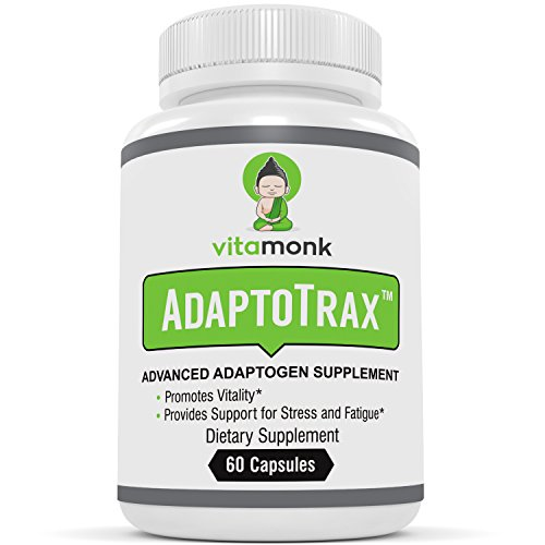 ADAPTOTRAX Superior Adaptogen Supplements Blend - Best Natural Adaptogens Supplement Complex To Enhance Physical & Mental Performance With Super Adaptogenic Herbs - KSM-66, Rhodiola, Cordyceps & More