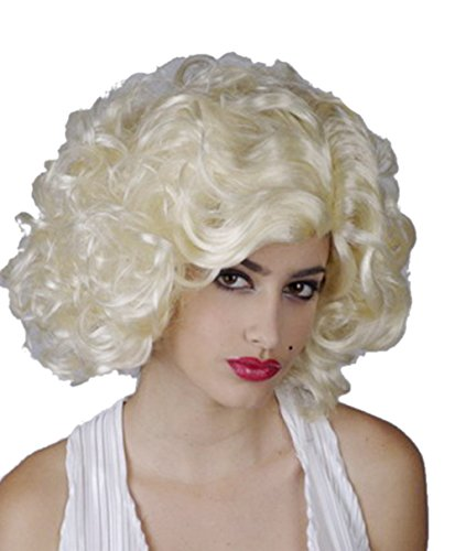 Short Blonde Curly Soft Touch Cosplay Wig Marilyn