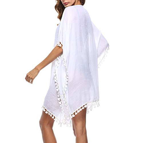 Casual Dress White Swimsuit up Beachwear Holiday Womens Bikini Dresses Zhhlinyuan Tassel Kaftan Cover Fashion 1xvBqUnY