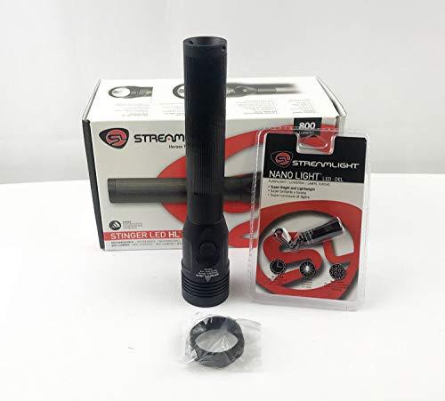 (Streamlight Stinger LED HL 75429 + FREE Streamlight Nano LED Keychain Light)