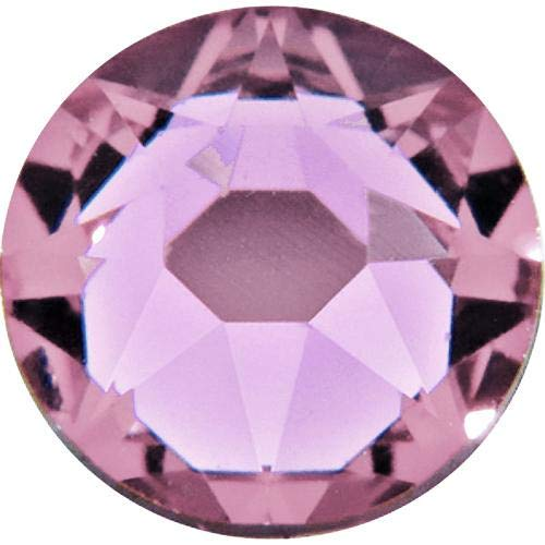 (Swarovski 2028 Hotfix Flatbacks SS30 Light Amethyst Rhinestones, Choose Quantity (144))