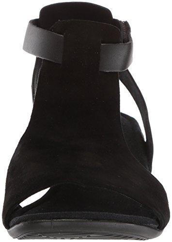 Ecco Kvinna Beröring 25 Fotled Sandal Svart / Svart