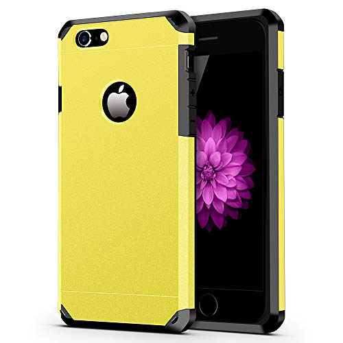 iPhone 6 / 6s Case, ImpactStrong Heavy Duty Dual Layer Protection Cover Heavy Duty Case for Apple iPhone 6 / 6s (Yellow) (Iphone Yellow 6 Case)