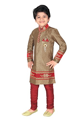 Ahhaaaa Kids Indian Ethnic Bollywood Style Indo-Western Sherwani and Breeches Set for Boys