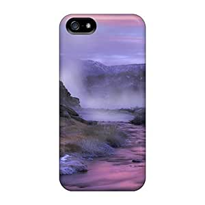 Excellent Design A River In Pink Case Cover For Iphone 5/5s