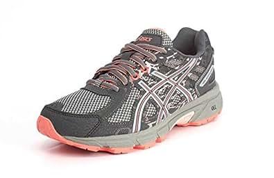 ASICS Womens Gel-Venture 6 Carbon/Mid Grey/Seashell Pink Running Shoe - 5
