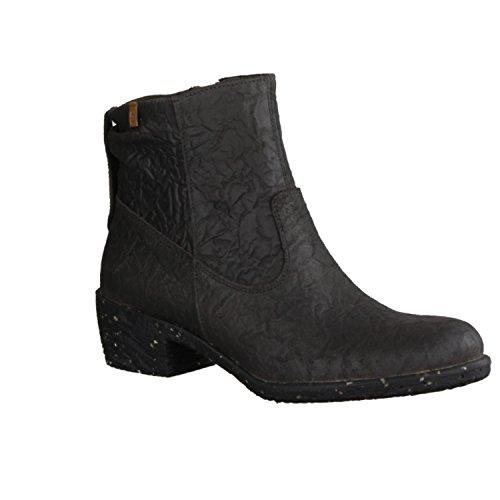 El Naturalista Quera NC56 - Zapatos mujer moderno Botines, Gris, ruga ( cuero ), altura de tacón: 40 mm