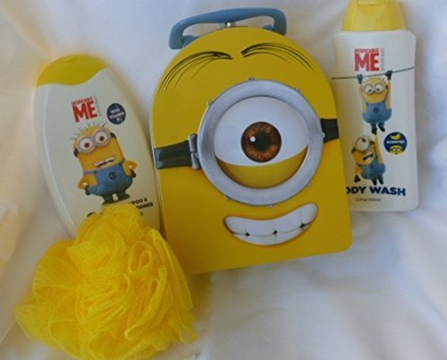Minions 4 Piece Bath and Shower Bundle in Collectible Tin by Minions