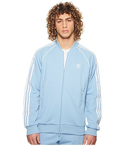 adidas Originals  Men's SST Track Top Ash Blue X-Large