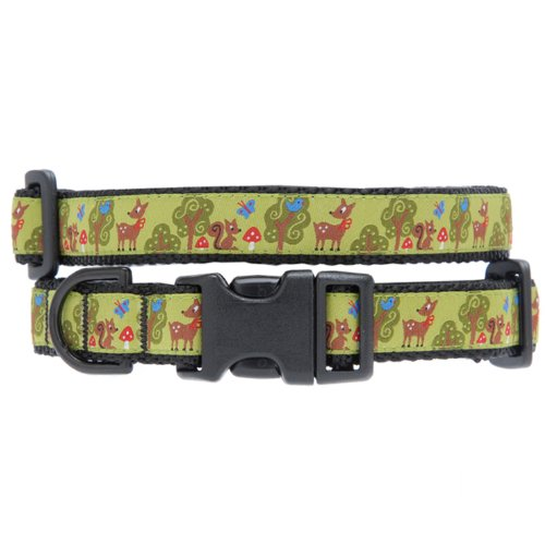 Max & Zoey Nature Dog Collar, X-Small, Green
