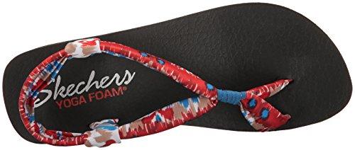 Skechers Women's Vinyasa-Lotus Angel Flip Flop Red/Multi ERJxKn3Jsx