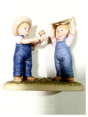 Denim Days Lets Fly a Kite #57064-05. Home Interiors Collectable Figurine. 5.75 inches Tall