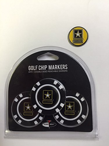 - U.S. Army Poker Golf Chips 3pk with Ball Markers, Bonus Marker