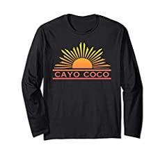 This shirt is a great Cayo Coco Souvenir Travel Gift to buy before or after your Cuba vacation. Remember your amazing trip and fond memories with this beautiful, trendy, bright ombre sun graphic T-shirt. Check out our other t-shirts by clicki...