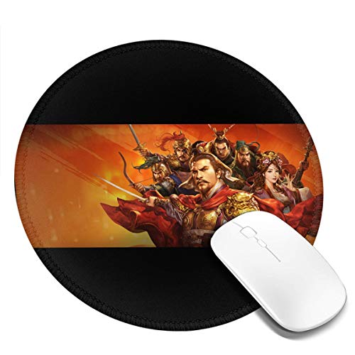 Other Romance of The Three Kingdoms Legend of CAOCAO Round Mouse Pad Waterproof Smooth Ultra-Thin Precision Control Game Office7.9x7.9 in (Romance Of The Three Kingdoms Ix Pc)