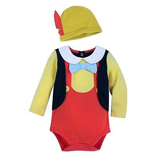 Disney Pinocchio Costume Bodysuit Set for Baby Size 18-24 MO Multi