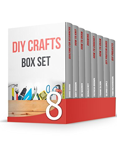 DIY Crafts Box Set: 55 Amazing Drawing Tips and Techniques, 30 Crochet and Knitting Patterns and 15 DIY Home Projects for Beginners