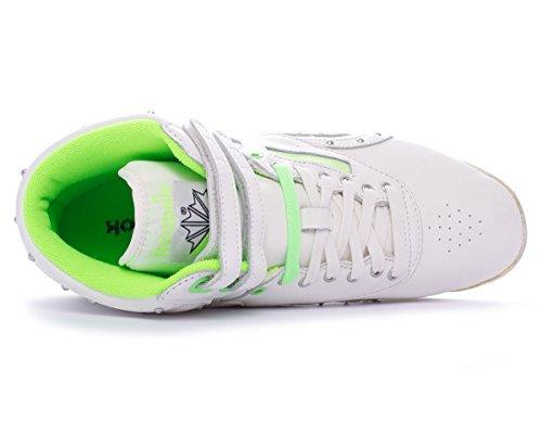 FS mujeres cuero Reebok Freestyle de cl Top High HI Zapatos HxxqdRBw