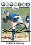 Manny Parra autographed Baseball Card (Milwaukee Brewers) 2008 Topps #481 - Autographed Baseball Cards