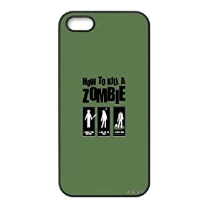 iPhone 5 5S Phone Case Black How To Kill A Zombie GV9P5BHU Mobile Phone Cases And Covers