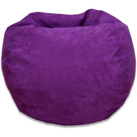Michael Anthony Large Purple Microsuede Bean Bag