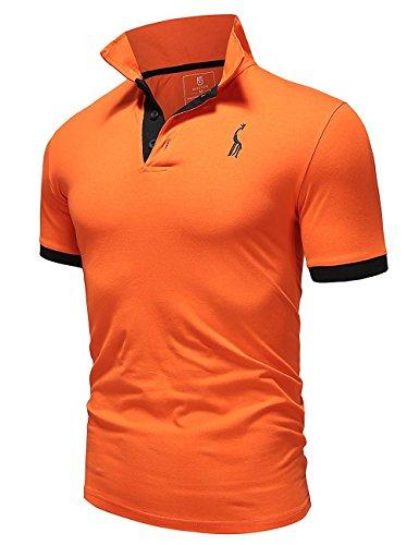 もう一度ガソリンまたねGlestore(グラストア) ポロシャツ メンズ 半袖 作業着 夏 無地 ゴルフウェア#MT1030