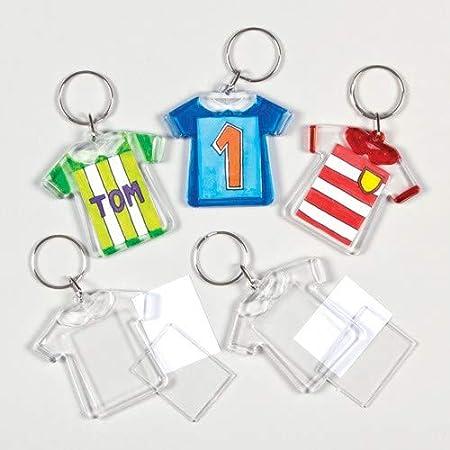 Baker Ross- Kits de llaveros en forma de camiseta (Pack de 6 ...