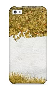 High-quality Durability Case For Iphone 5c(early Fall Painting Tree Grass Leaf Nature Autumn)