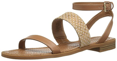 (Nine West Women's Xenosa Synthetic Gladiator Sandal Dark Natural Multi 7.5 M US)