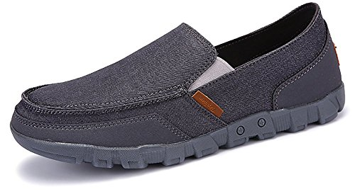 Penny On Driving Classic Shoes Comfort Shoes Loafers Casual Slip Canvas Gray Odema Men's w85qCvvH