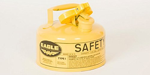 Safety Cans - 1 Gallon Yellow Type I Safety Can - SAFETY- EG-UI-10-SY