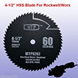 HSS 60T 4-1/2' 4.5 inchMetal Circular Saw Blade for Rockwell...