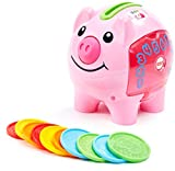 Fisher-Price Laugh & Learn Smart Stages Piggy Bank, Cha-ching! Get ready to cash in on playtime fun and learning!