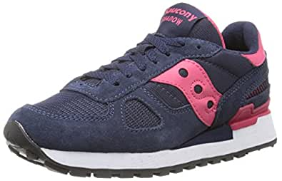 Saucony Originals Women's Shadow Original Sneaker,Navy/Pink,7 M US