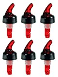 ChefLand Measured Bottle Pourer / Pouring Spouts for Liquor, Wine and Spirits Perfect for Restaurant, Bar, Hotel, Casino Use - Auto-Measuring 1 oz (30 ml) - (6 Pack)