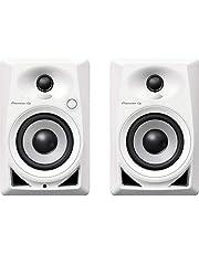 """Pioneer DJ DM-4 Par de monitores de escritorio que ofrecen una excelente calidad de audio, Blanco, 4"""""""