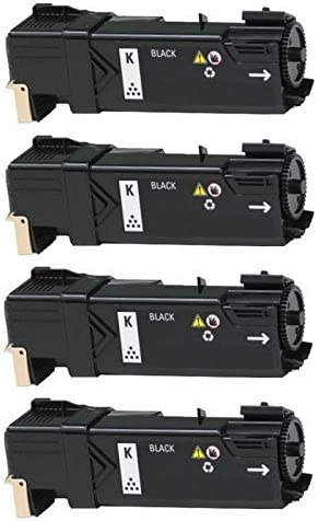 593-11005/_4PK SuppliesMAX Compatible Replacement for Dell 2150CDN//2150CN//2155CDN//2155CN Black Toner Cartridge 4//PK-3000 Page Yield