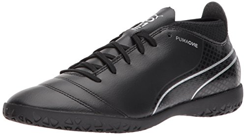 Black One 8 M 17 Shoe 4 PUMA US Soccer Men's Black IT Silver 5qw10v
