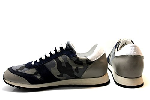Trussardi Vaqueros 77S066 Negro y gris Zapatillas Hombre Calzado Deportivo Casual - Gris, 42