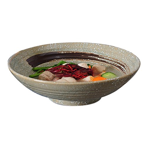 WaWei Bowl Japanese Style and Wind Ceramic Bowl Big Bowl Boiled Beef Pickled Fish Bowl Boiled Fish Bowl Large Bowl Large Size Bowl