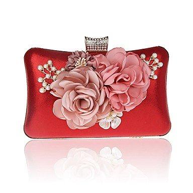 Argent Noir Cliquet et Fuchsia Violet Polyester Pochettes Rouge SUNNY Ruby clutches KEY fqaYXa0w