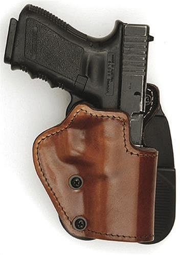 Mako 3-Layers Brown Holster (Leather/Kydex/Suede Lining) - Paddle version Fits Colt 1911 Hand Gun, Right Hand