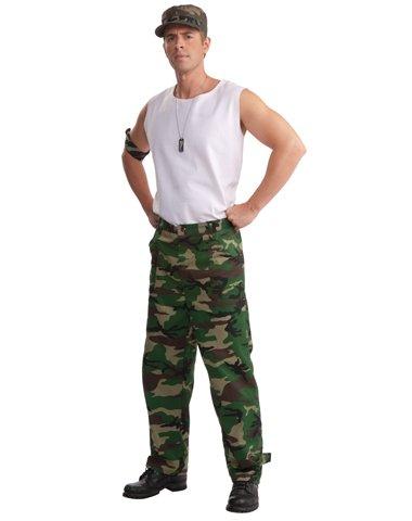 Forum Novelties Inc Men's Camouflage Army Pants Combat Hero Camo Pants fits up to size 34