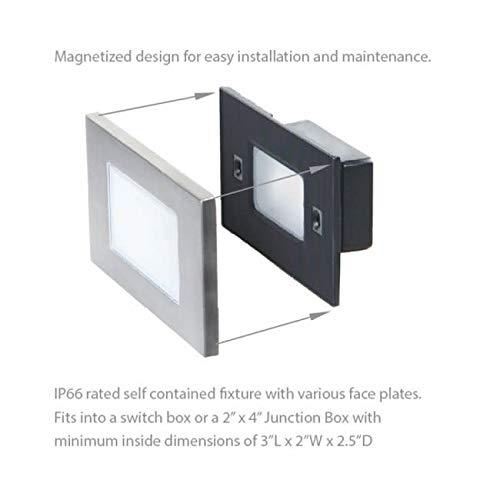 WAC Lighting WL-LED110F-C-BN 277V 3000K LED Horizontal Scoop Step and Wall Light Brushed Nickel
